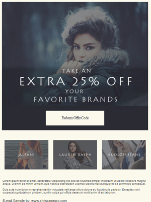 Women's Fashion e-mail sample by Chris Carrasco